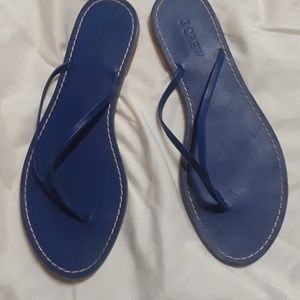J. Crew Shoes - J crew blue leather sandals